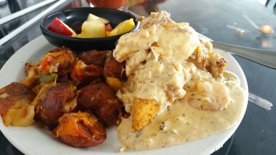 Shrimp and grits brunch menu picture of cafe rue - Olive garden fayetteville arkansas ...