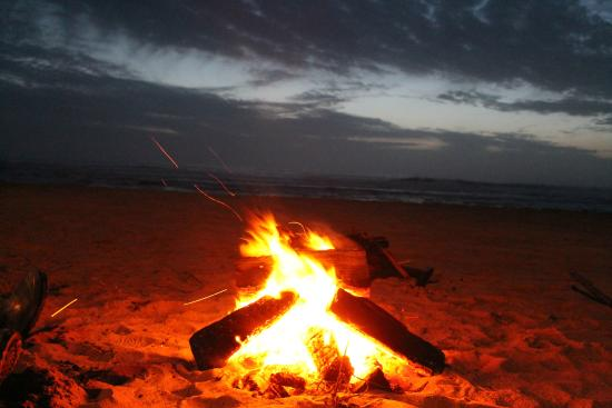 Westshore Oceanfront Motel: Campfire on the beach!  Perfect for enjoying s'mores!