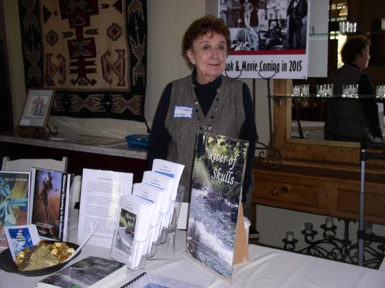 Angels Camp, CA: Author J.F. Langton at book launch