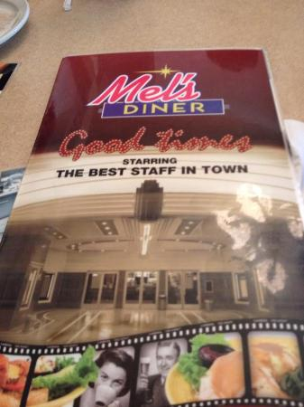 Mel's Diner: メニュー