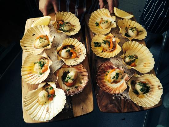 Pasini's Cafe : Fresh Tasmanian Scallops