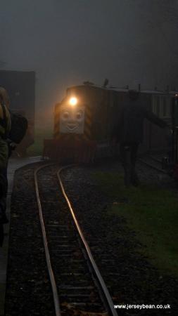 Kirklees Light Railway: Mavis in fog