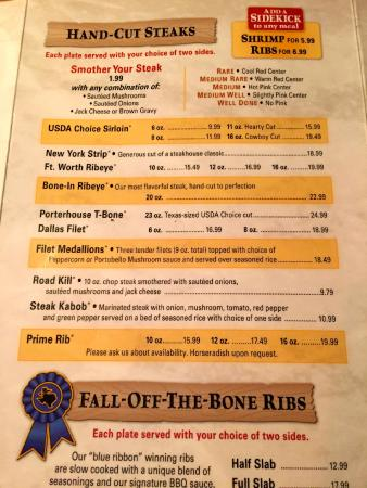 Texas Roadhouse: I recommend the sirloin