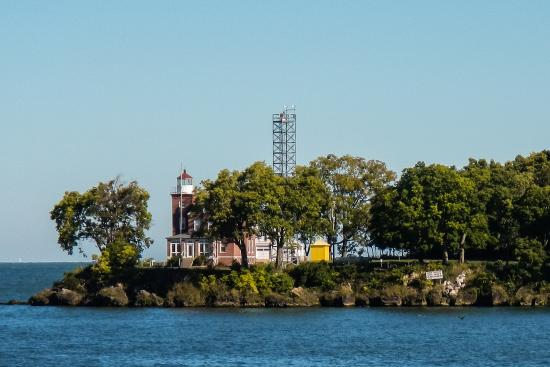 South Bass Island Lighthouse: Lighthouse as Seen from a Departing Ferry