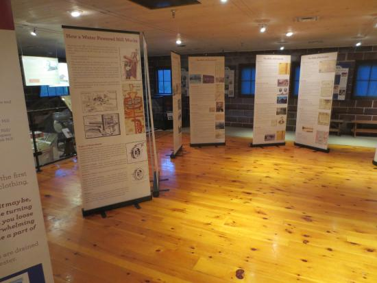 Rochester Hills Museum at Van Hoosen Farm: Mill exhibits in the barn