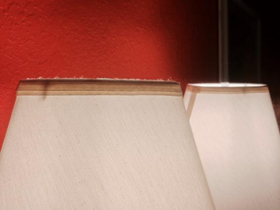 Quality Inn Greenville: Dusty lampshades