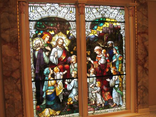 Basilica of St. Josaphat: Jesus and the Children stained glass