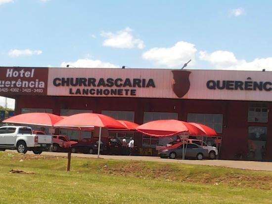 Dourados, MS: Vista da BR163 da churrascaria e lanchonete
