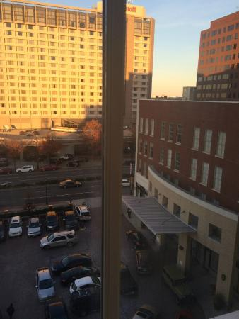 Hilton Richmond Downtown: view of valet/front of hotel from room 519