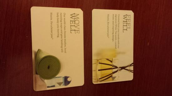 The Westin Lombard Yorktown Center: New designs of the room keys at Westin.