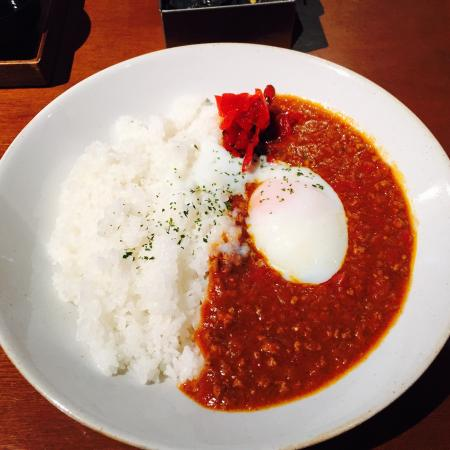 Iyemon Salon Kyoto Cafe Lounge: Lunch special -- keema curry and boiled egg
