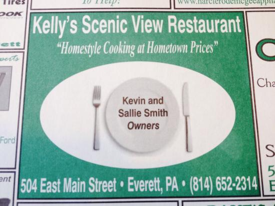 Kelly Restaurant Everett Pa