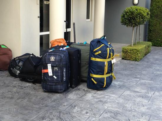 Colombo in the City: All the bags the owner kindly put in his car.