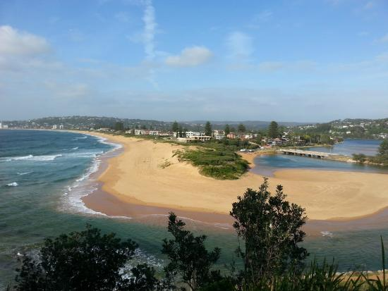 NRMA Sydney Lakeside Holiday Park Narrabeen: the from the look out north narrabeen
