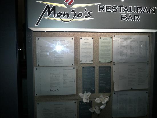 Mongo's Restaurant Köln: Наружнее меню