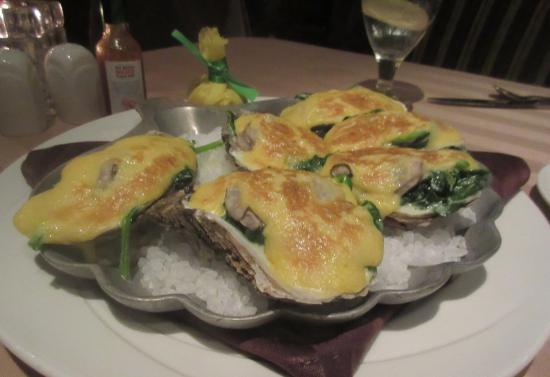 Oysters Rockefeller, Sterling's Seafood Steakhouse, Reno, NV
