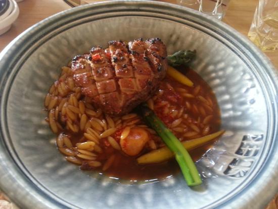 Ten Twenty Four Nz: Main course: lamb & pasta with japanese sauce