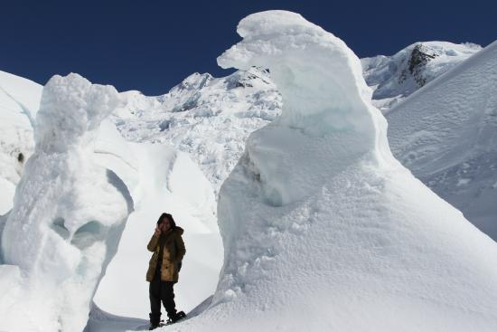 Southern Alps Guiding: Shapeless Ice statues