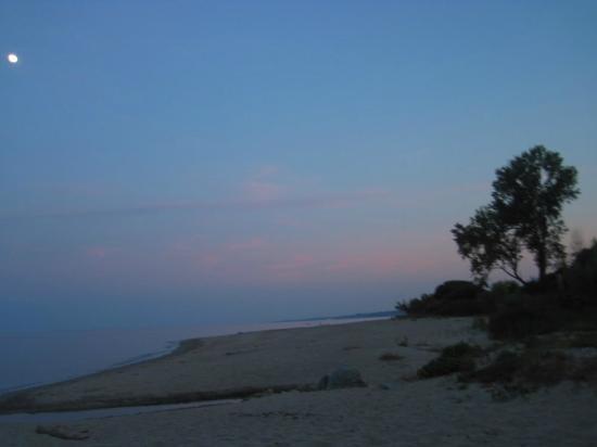 Residence Mare e Sole: la plage au coucher du soleil