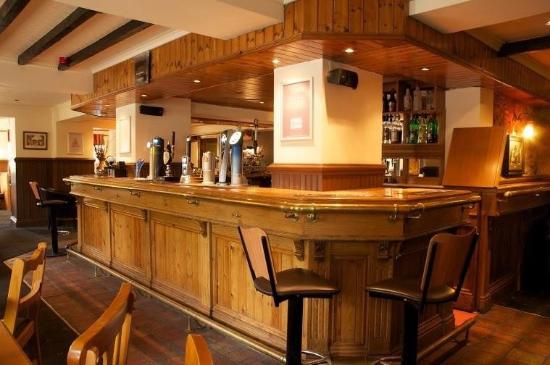 The Red Well Inn: The bar. Warm and cosy.