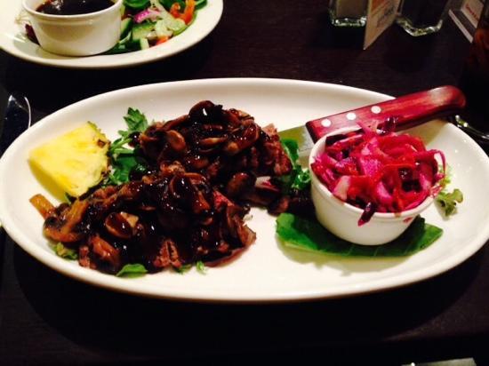 """Mokus Restaurant of Fonthill : Teriyaki steak """"oh so good"""""""