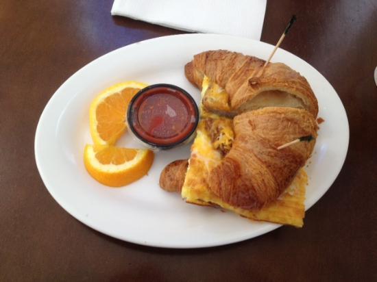 Cole & Parks - croissant breakfast sandwich
