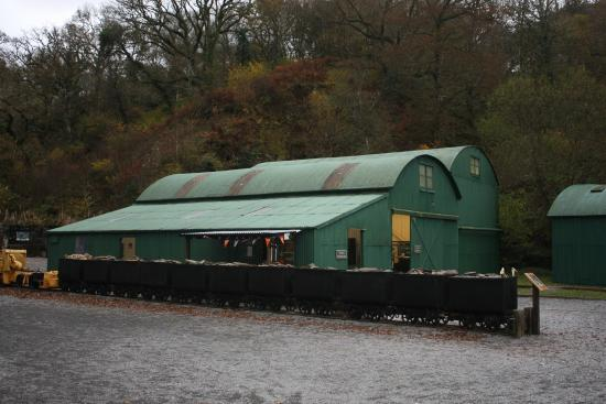 Dolaucothi Gold Mines: Old mine buildings relocated to the mine