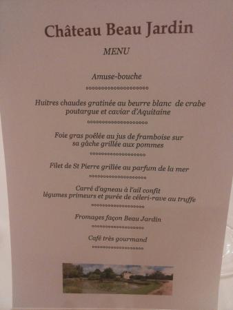 Gaillan-en-Medoc, Frankreich: Menu spécial