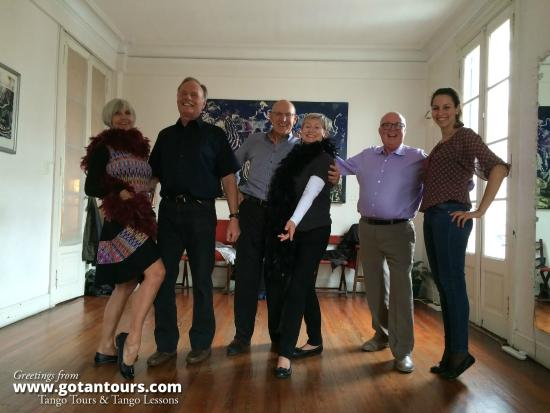 Gotan Tours: Fun at the tango lesson!