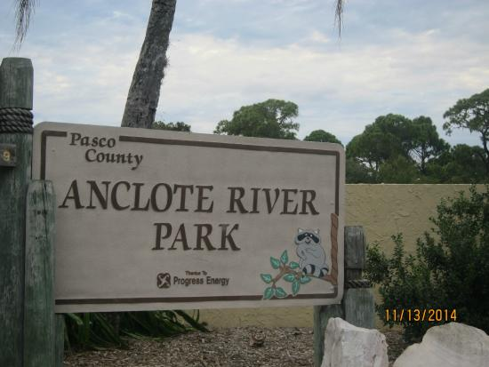 Anclote River Park: sign