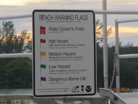 Anclote River Park: sign