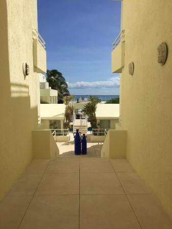 Playa Maya : View to beach