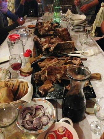 Villa Sumrak: The feast on our last night