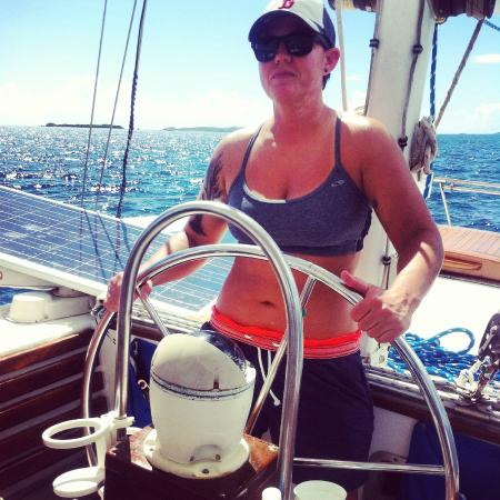 Sail With Liberty Private Day Sails: Not quite Captain Ryan...