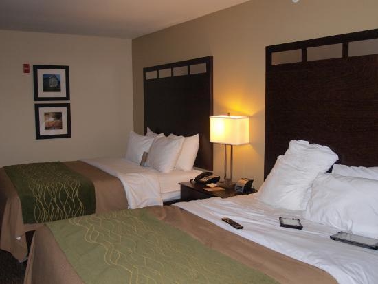 Comfort Inn Saint Clairsville : A clean comfortable room