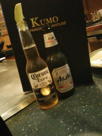 Kumo Japanese Steakhouse : Ice Cold Beer