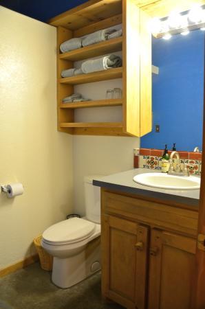 Silver River Adobe Inn: Bathroom in the guest house.