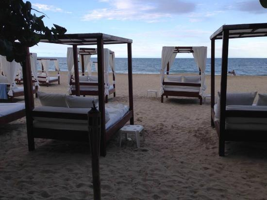 Blue JackTar: They have comfy beds on the beach! With food and drink service!