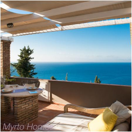 Myrto Vacation Relaxing Homes: Stunning sea view from the Loft balcony,