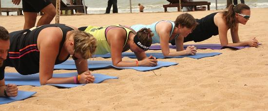 นาจอมเทียน, ไทย: Beach Training BeastFit Asia Pinnacle Resort  Na Chom Thian, Thailand