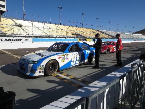 Richard Petty Driving Experience: A driver gets ready to go.
