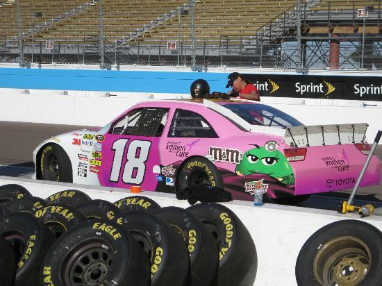 Richard Petty Driving Experience: Pink goes fast.  A Ride Along Car.