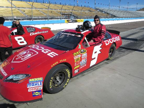 Richard Petty Driving Experience : Me in the Red Streak!  No records set, but no crashes either.