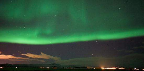 Pink Iceland Day Tours: The Northern Lights as seen on one of our Northern Lights Hunt