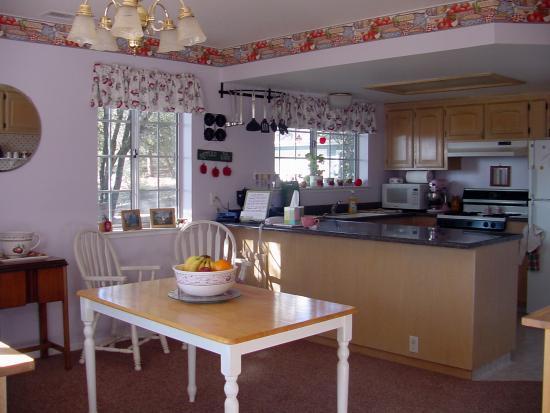 Yosemite's Apple Blossom Inn: The sunny kitchen