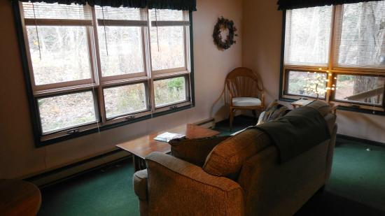 The Cabins at Brookside: sun room - nice place to have coffee in the morning
