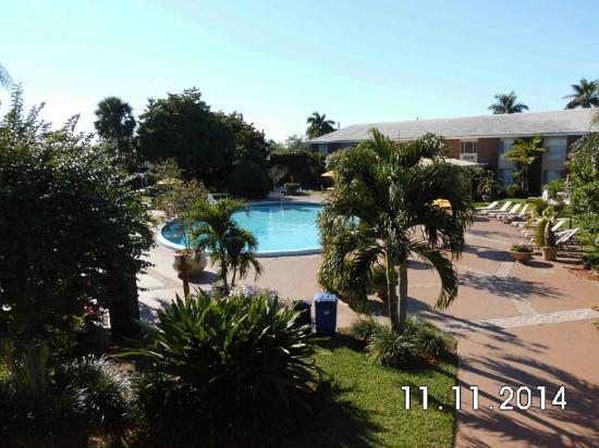 Best Western Palm Beach Lakes Inn: Blick auf den Pool