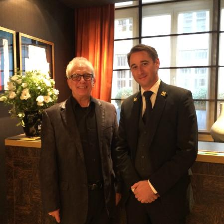 Grand Hotel du Palais Royal: Concierge Antoine on the right -