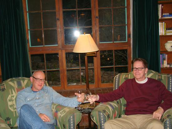 Inn of the Turquoise Bear: Roger and me relaxing in our room