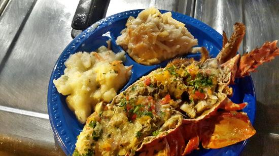 """Gros Islet Street Party : Local cuisine at """"Street Party"""""""